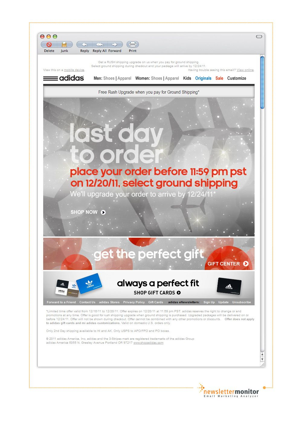 Brand: Adidas | Subject: Final hours: Last Day to Order + Free ...