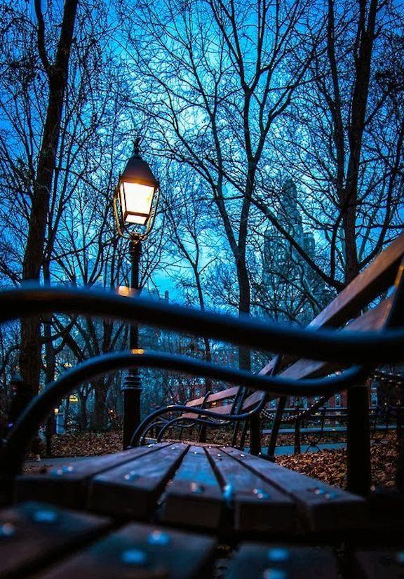 Night-Fall in New York City.