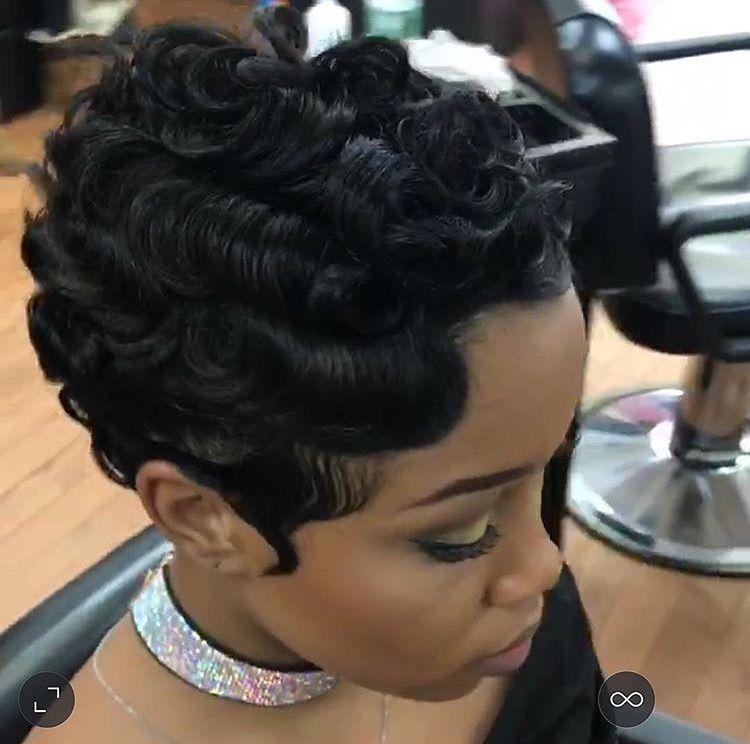 Yaaas Werk Gurl Finger Waves Short Hair