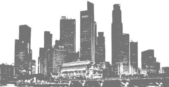 Black And White Panorama Cities City Drawing City Outline Free Vector Graphics
