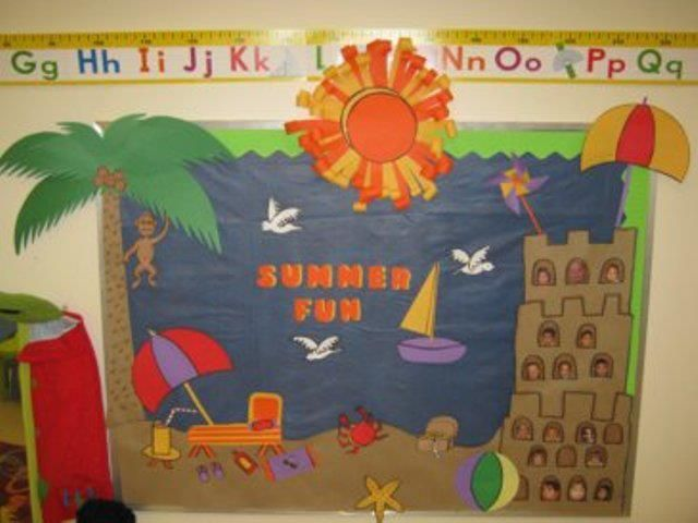 Summer Themed Classroom Decorations : Preschool summer door decorations sailboat july bulletin