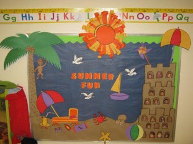 Summer Classroom Ideas Home Decor And Interior Design Summer Bulletin Boards Preschool Bulletin Beach Bulletin Boards