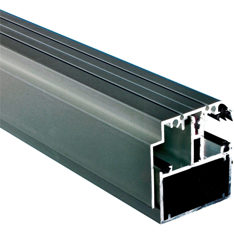 Kit Rive Portante Pour Plaque Ep 16 32 Mm Gris L 4 M Dhaze Gris Mesure Et Polycarbonate