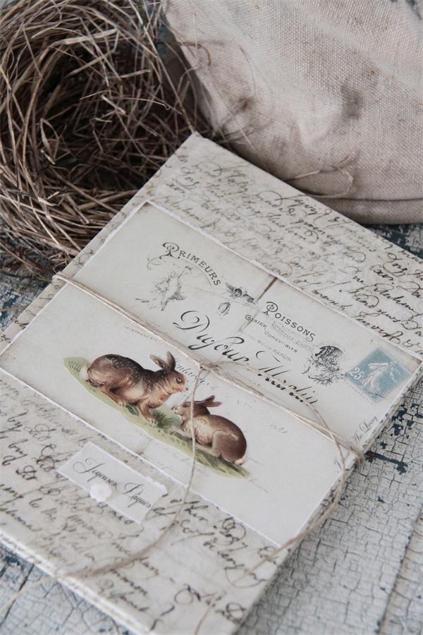 Kleines Schwedenhaus jeanne d arc living note book notizbuch shabby chic kleines