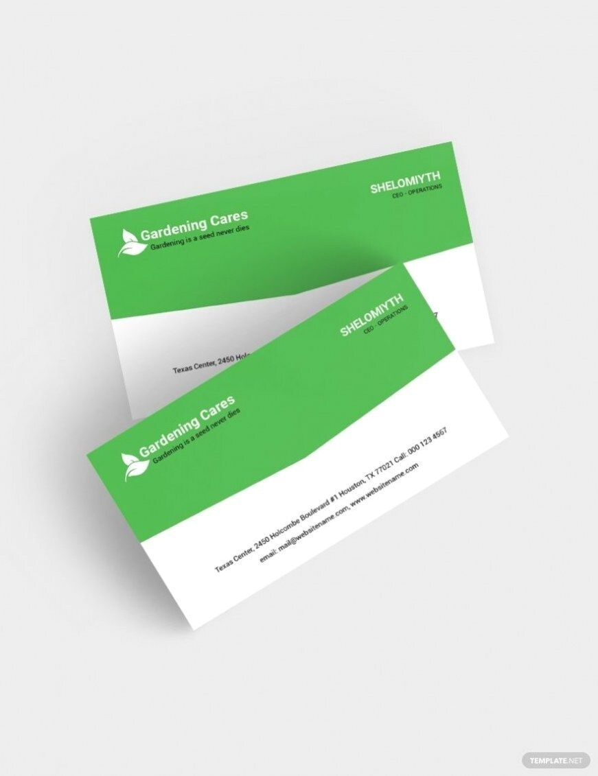 Free Gardening Business Card Template 2020