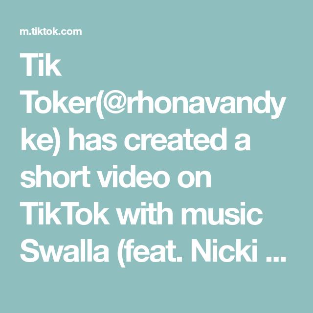 Tik Toker Rhonavandyke Has Created A Short Video On Tiktok With Music Swalla Feat Nicki Minaj Ty Dolla Ign Do In 2020 Laverne The Originals Me As A Girlfriend