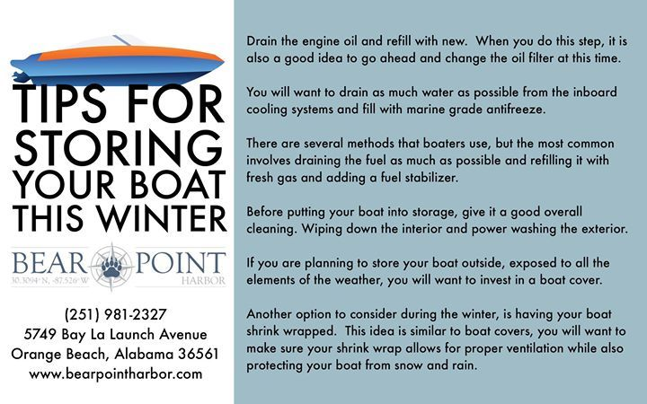 Try These Tips For Storing Your Boat This Winter Bearpointharbor Boat Winter Boat Tips Oil Filter