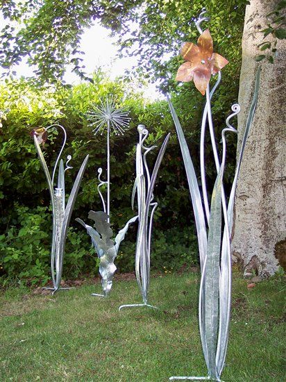 Metal Garden Plant Sculptures Exeter Devon Southwest