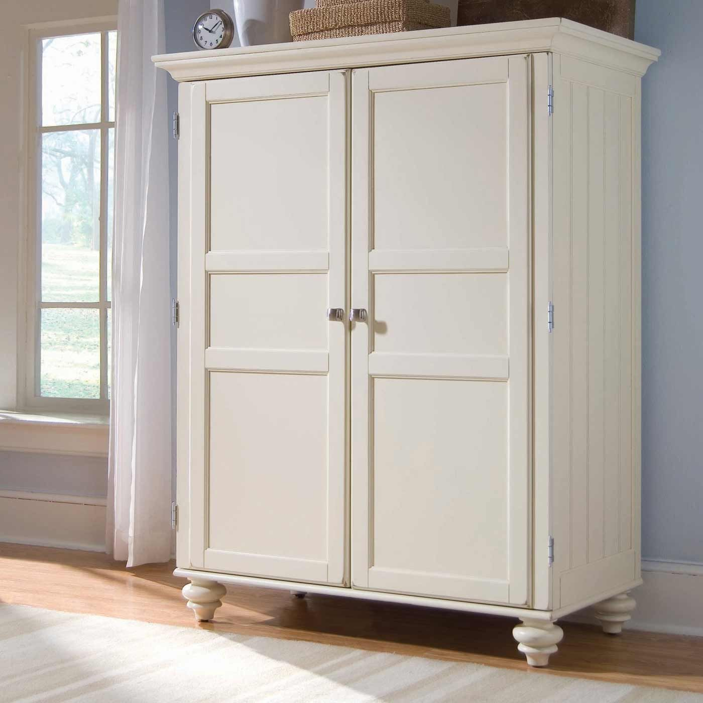 White armoire morgan cheap armoire desk in cream white for Armoire tv