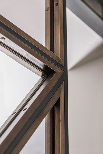 Steel and glass door