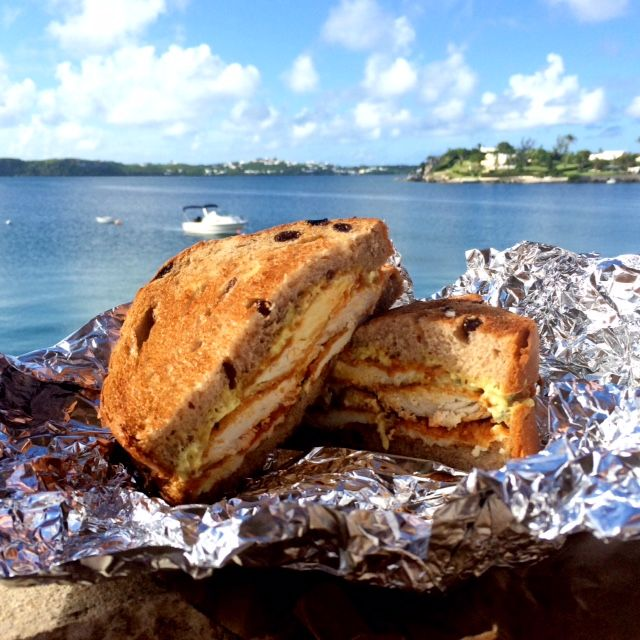 Wahoo fish sandwich from Seaside Grill. Their amazing entry into the Bermuda's Best Fish Sandwich Competition