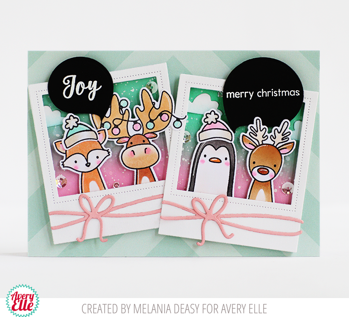 Avery Elle Adorable Card Using Our Photo Mat Die Christmas Card Design Cards Diy Christmas Cards
