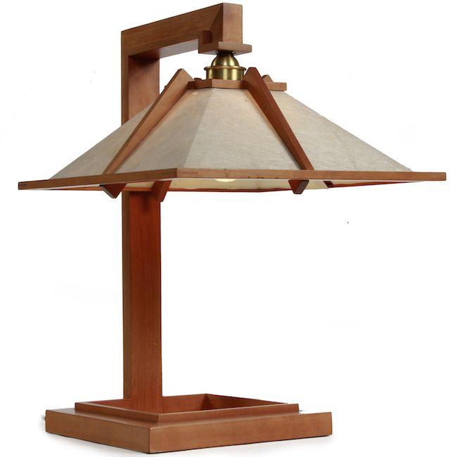 Frank lloyd wright cherry wood table lamp landscape design pinterest frank lloyd wright cherry wood table lamp aloadofball Images