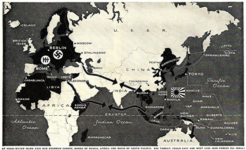 The Axis At Its Height Campaign Maps Of WW II Pinterest - Us army ww2 maps