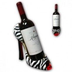 Zebra Heel Wine Holder High Heel Wine Bottle Holder Wine Bottle