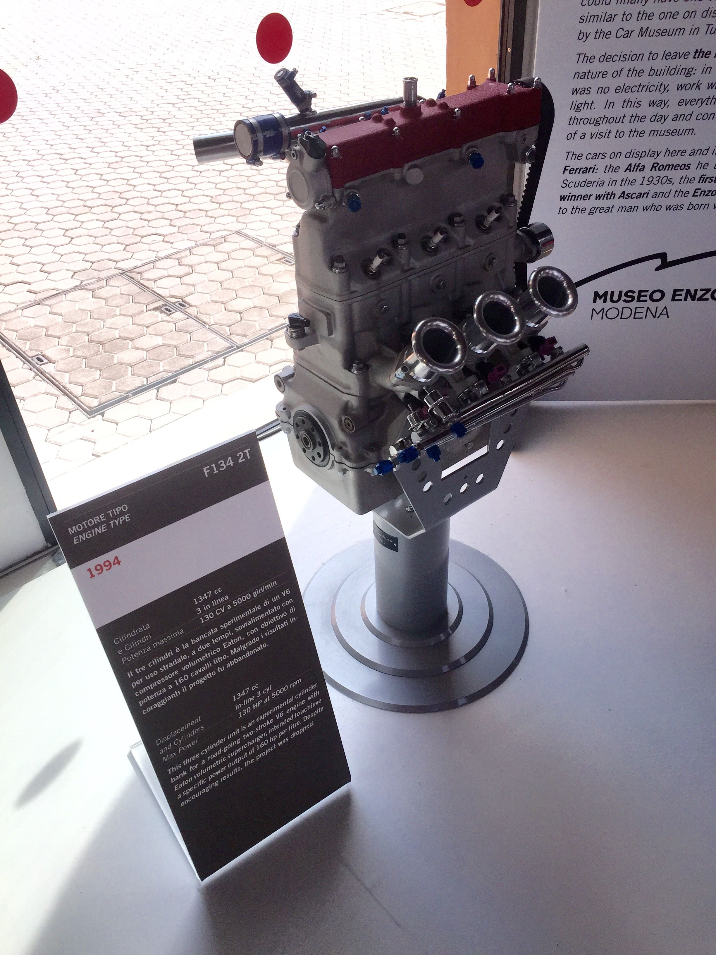 Ferrari Prototype 3 Cylinder Two Stroke Engine Hp Ken V6