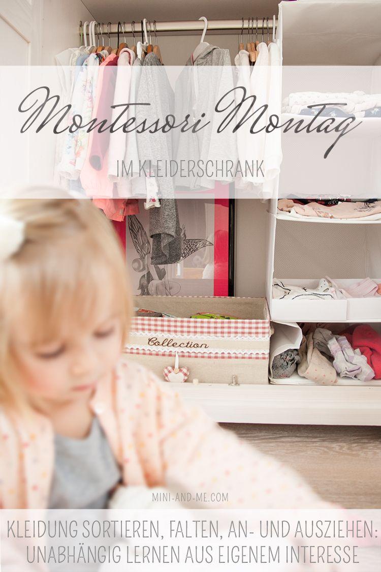 Montessori Im Kleiderschrank Sortieren Falten An Und Ausziehen