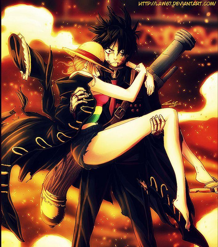 Monkey D Luffy Save Nami One Piece Nami Luffy X Nami