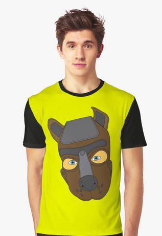 f46bc7d3c87f Human Pup Puppy Play outfit. Leather pup training mask hood graphic design t -shirt