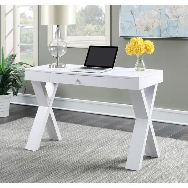 Copper Grove Helena Espresso White Wood Desk With Drawer White Wood Desk Desk With Drawers Wood Desk