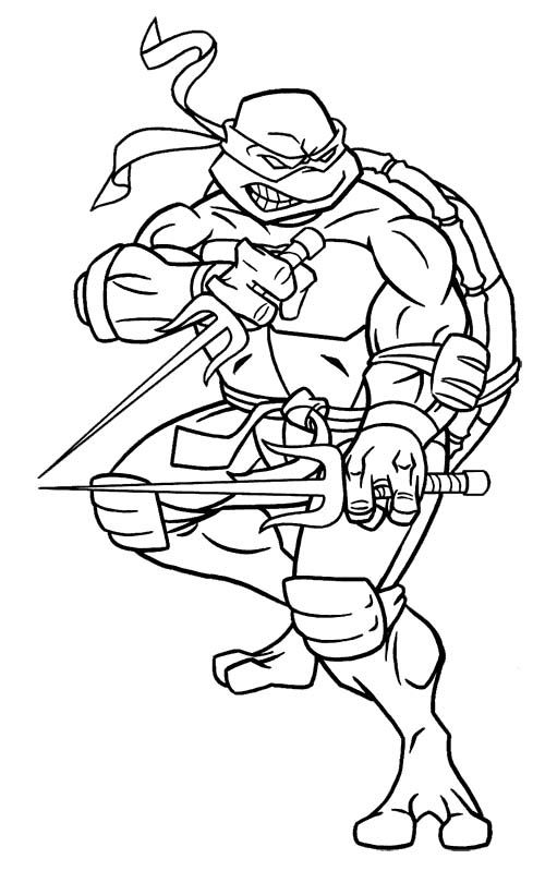 Raphael Ninja Turtles Cartoon Coloring Pages Ninja Turtle
