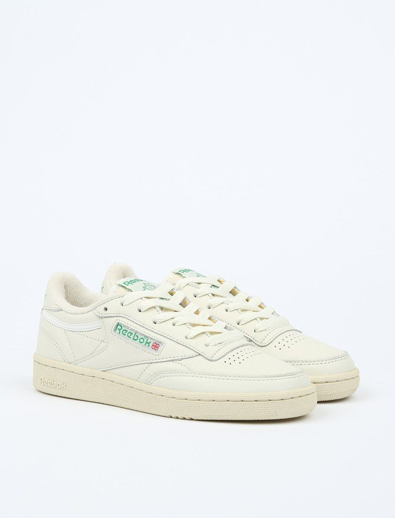 4ccca8ae099a Reebok Club C 85 Vintage - Chalk Paperwhite Glen Green 1