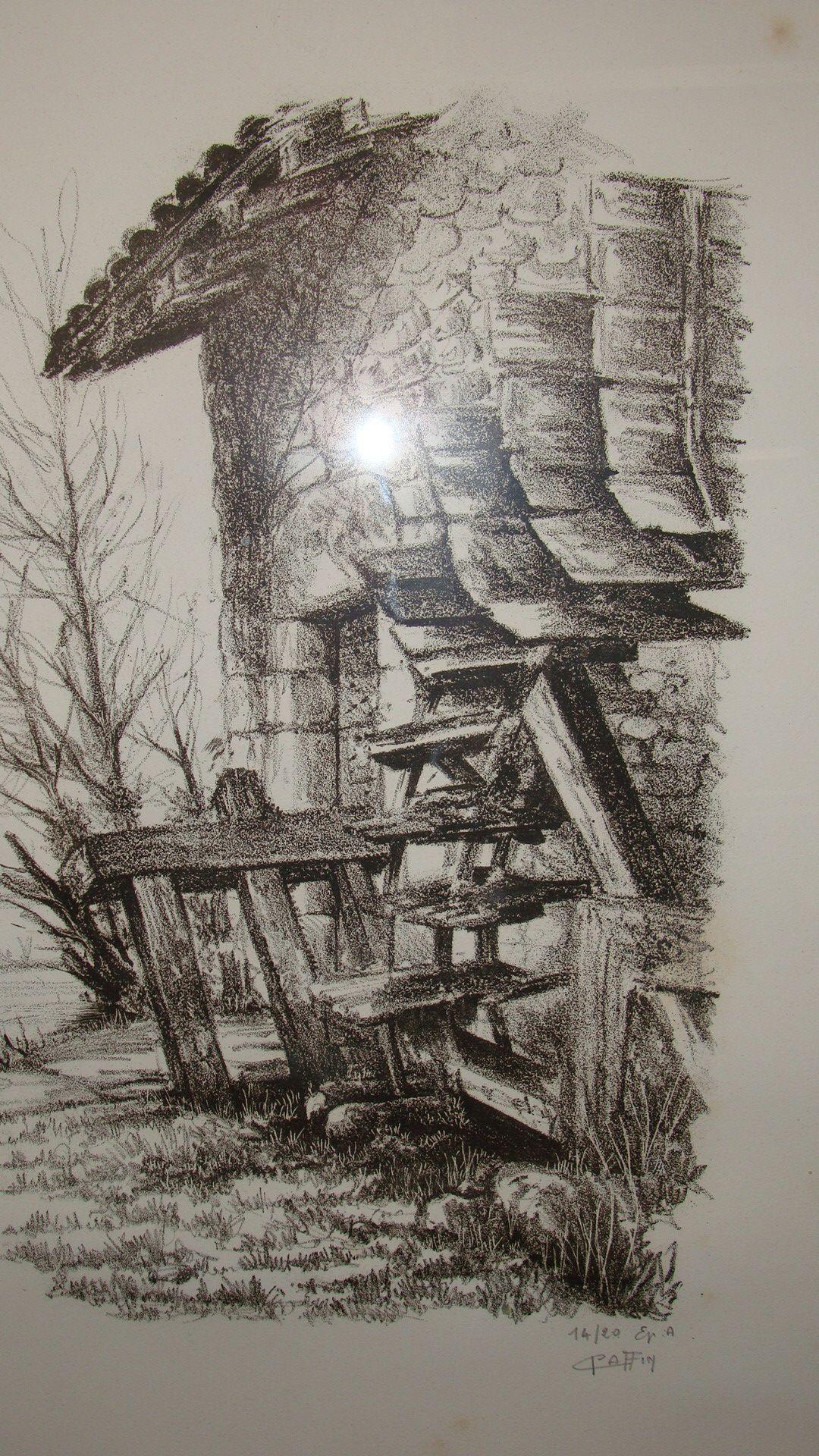 Kleurplaten Watermolen.Watermolen Le Moulin Barret Lito Watermolen