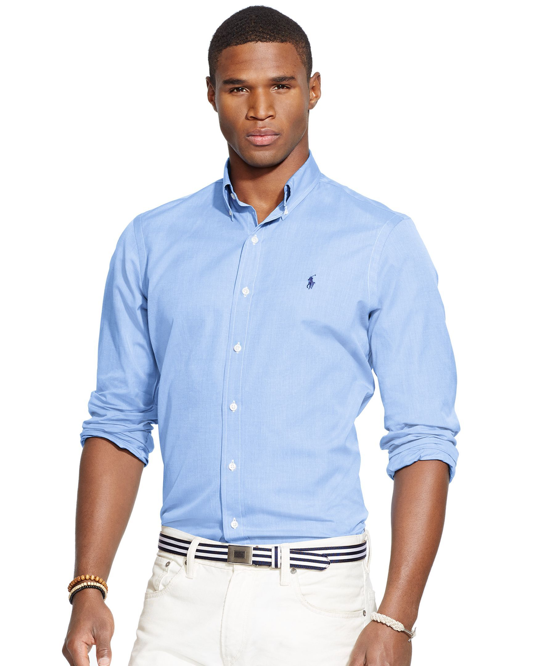 Polo Ralph Lauren End-on-End Poplin Button-Down Shirt - Classic Fit