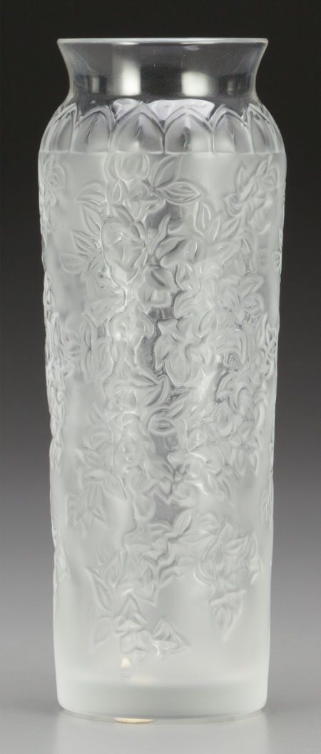 65762 A Small Lalique Frosted Glass Vase Post 1945 Ma On Glass