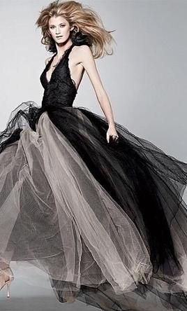 And The Bride Wore Black Could Sombre Wedding Dresses From Vera Wang Mark A Turning Tide For Bridal Trends Black Wedding Gowns Wedding Dresses Vera Wang Halloween Wedding Dresses