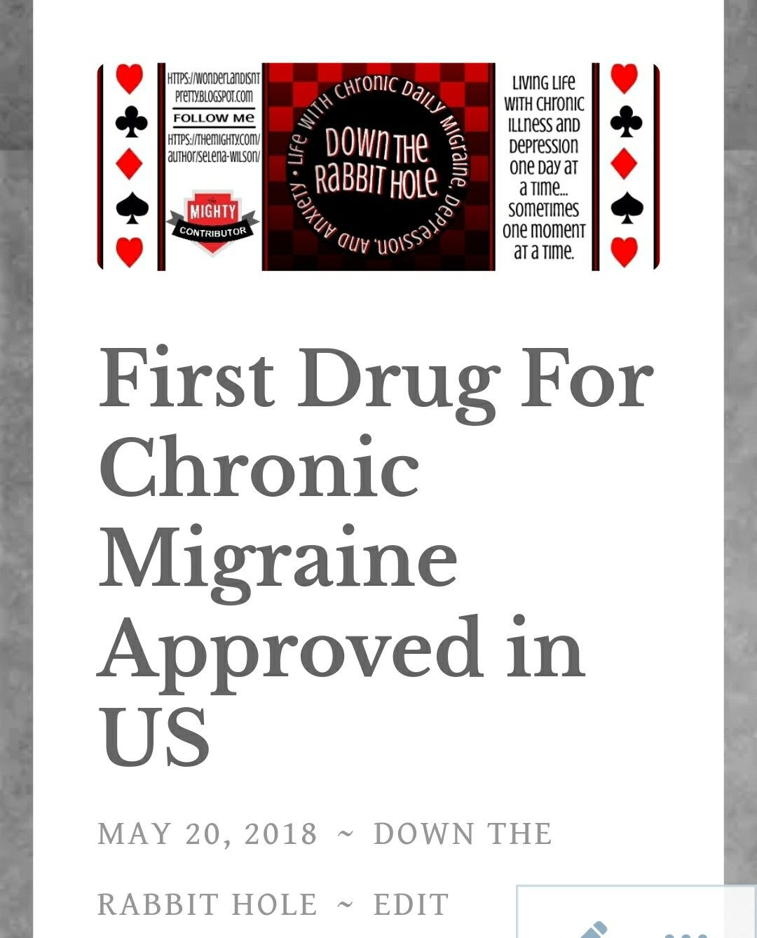 Pin By Down The Rabbit Hole On Migraine Land