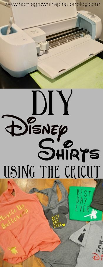 Diy Disney Shirts Using The Cricut Diy Inspiration Pinterest
