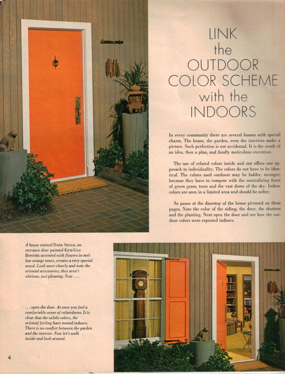 1960s paint colors 1960s stained painted front door