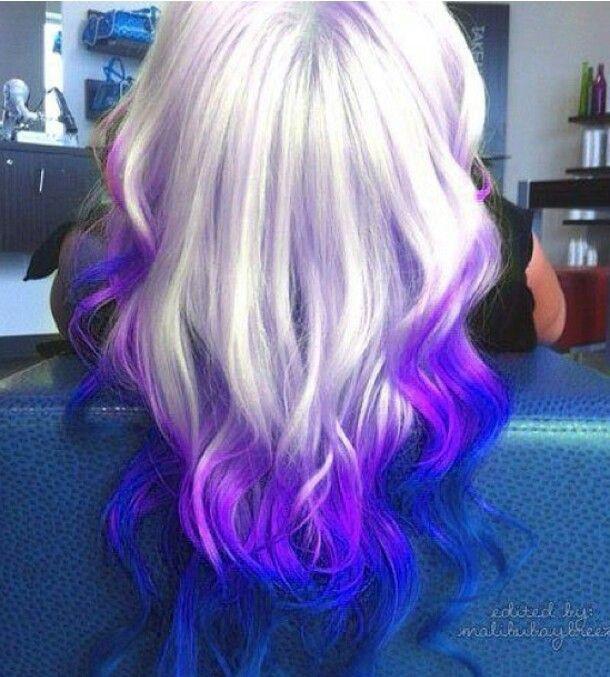 Blonde Purple Blue Ombre Capelli Colorati Idee Per Capelli Capelli