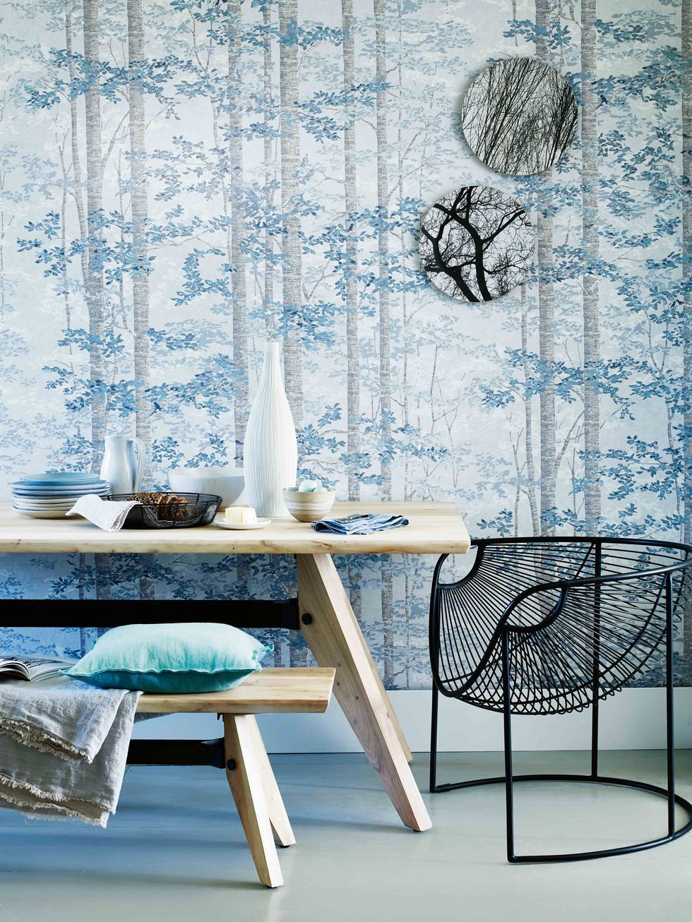 How To Bring The Outside In With Nature Inspired Wallpaper Murals Mural Wallpaper Home Decor Interior