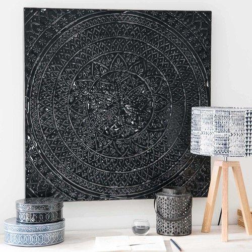 Popular Wanddeko aus schwarzem Metall xcm ZAHORA
