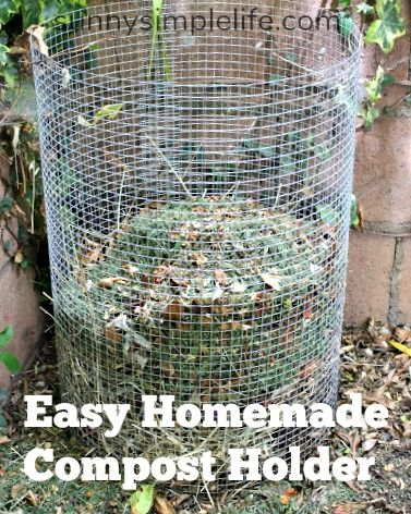 Easy homemade compost bin, make a compost holder with hardware cloth