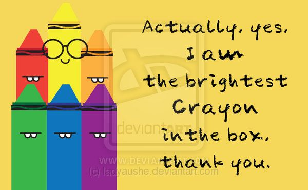 brightest crayon in the box by ladypixelheart on deviantart
