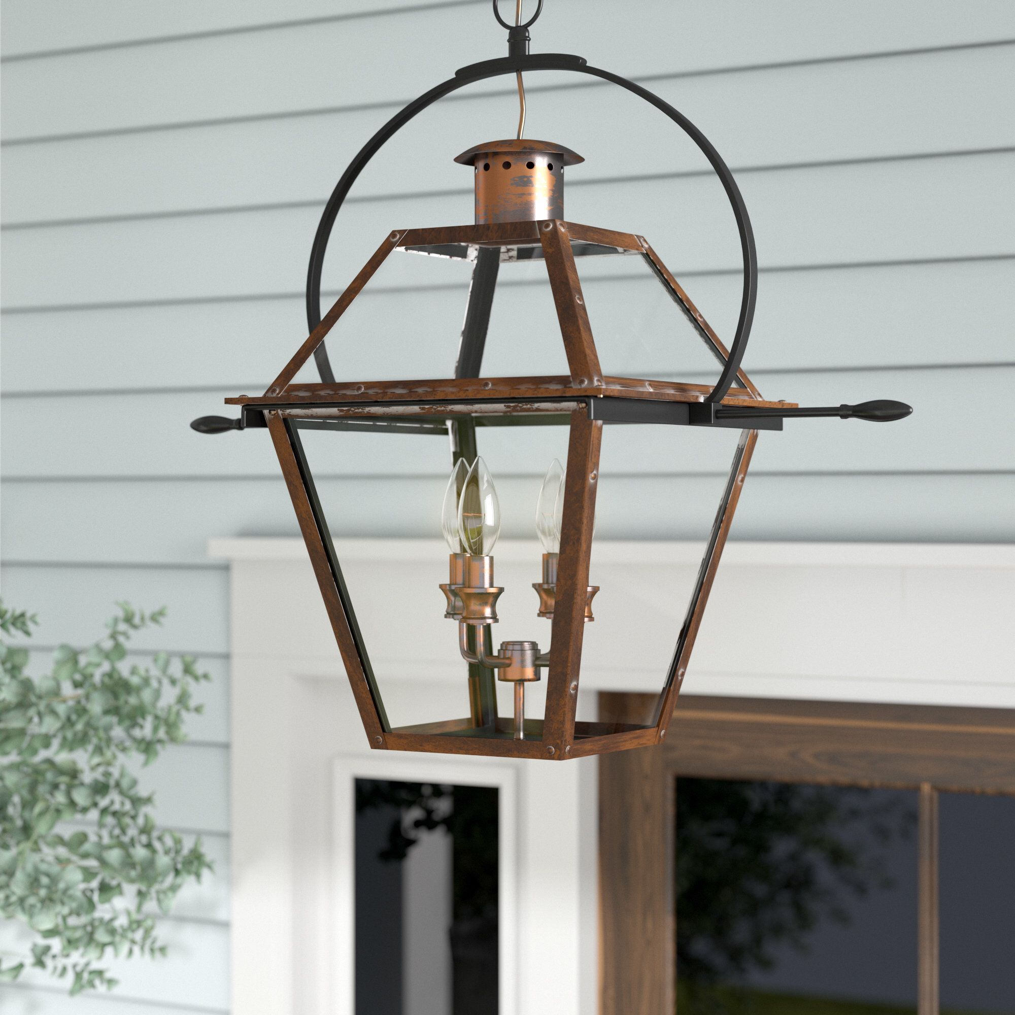 Lois 4 Light Outdoor Hanging Lantern With Images Outdoor