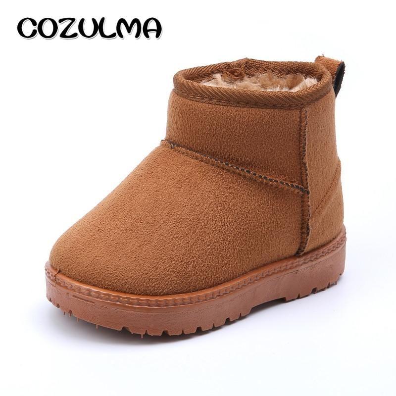 Winter Warm Leder Gefütterte Schneestiefel Stiefel Schuhe Kinder Jungen Mädchen