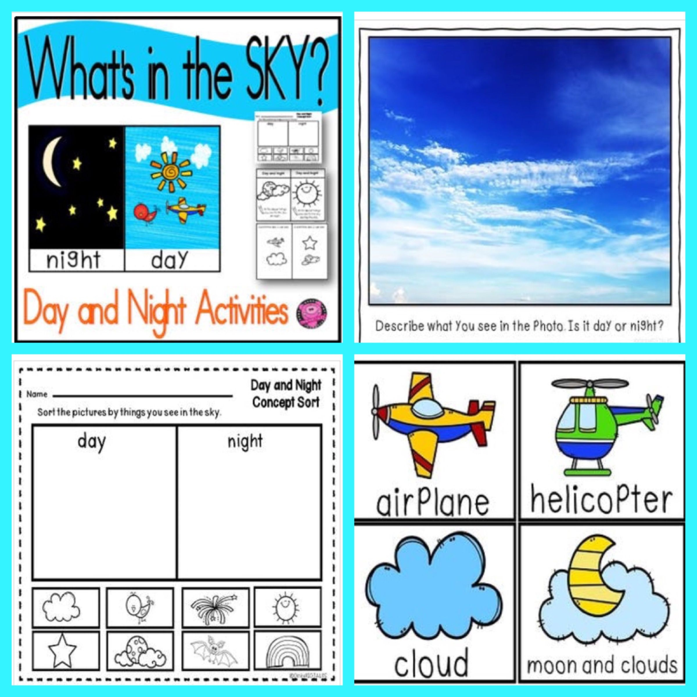 Day And Night Activities Sorting Worksheets And Centers