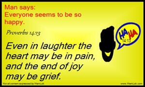 Remember: laugher may be crying inside. Don't think everyone else has it together #biblememory MemLok.com