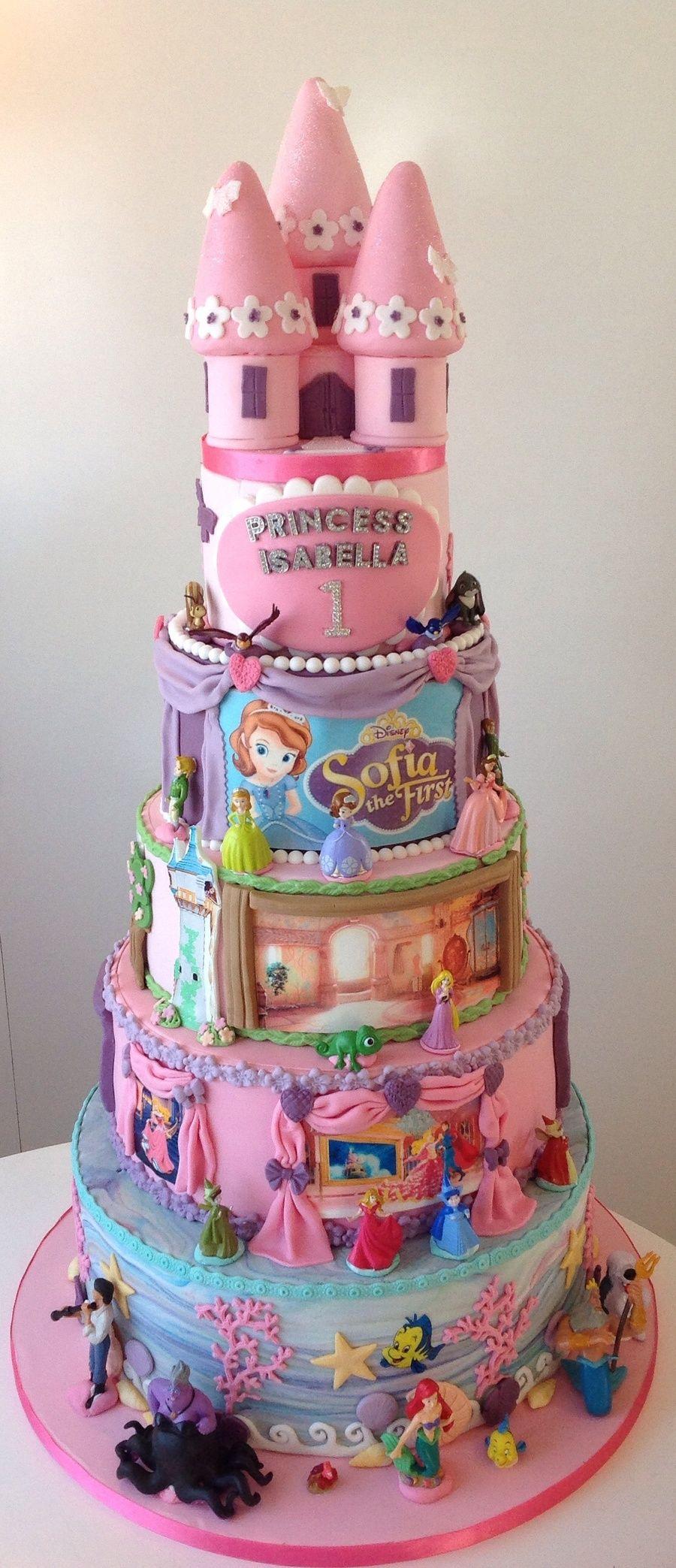 Disney princess 1st birthday cake cake disney receitas