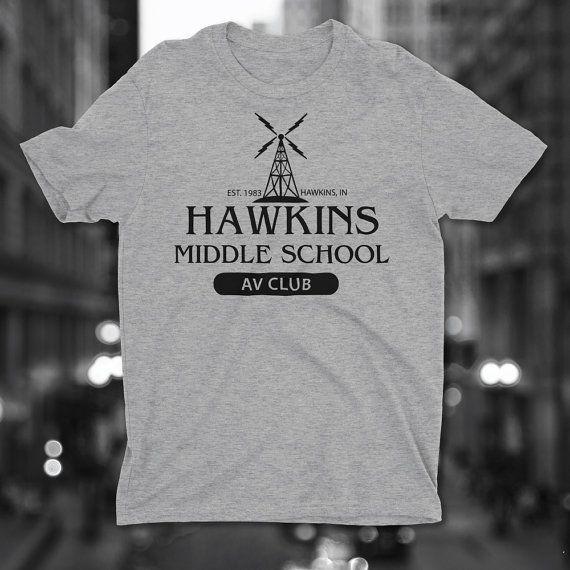 Hawkins Middle School Av Club T Shirt Hawkins Av Club Stranger
