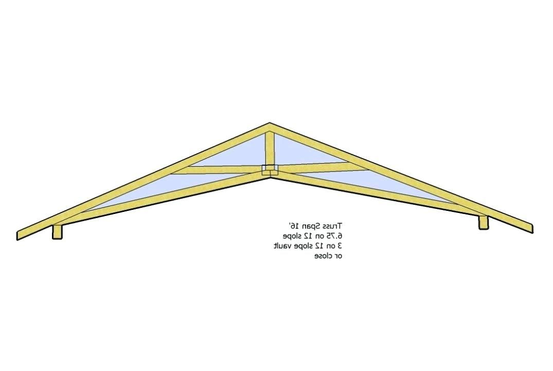 Vaulted Ceiling Trusses Photo Of Anyone