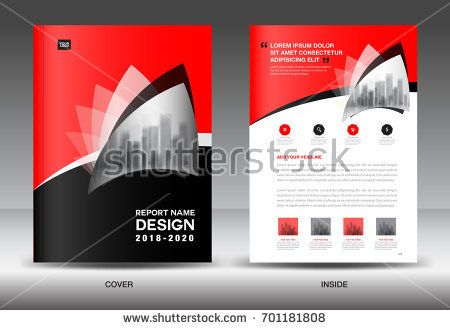 Annual Report Brochure Flyer Template Black Cover Design