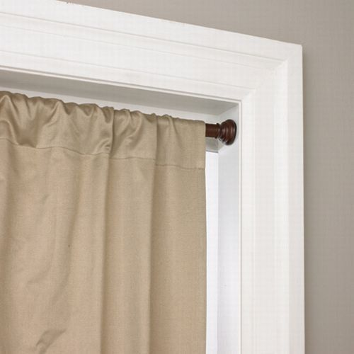 Tension Curtain Rods For No Hole Hanging Just Make Sure Big Enough Weight Of Fabric