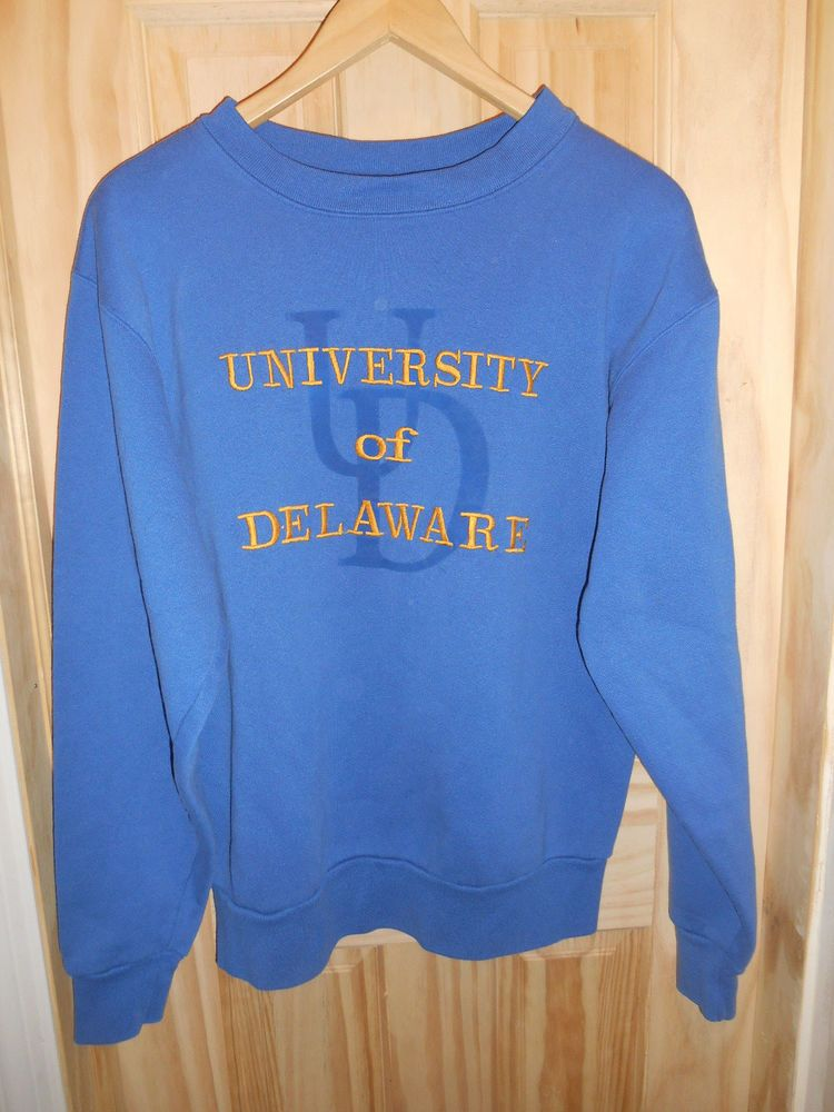 b1ece433d University of  Delaware Large Vintage Sweatshirt  Blue Hens Sewn Jansport  US Made  Jansport  DelawareBlueHens