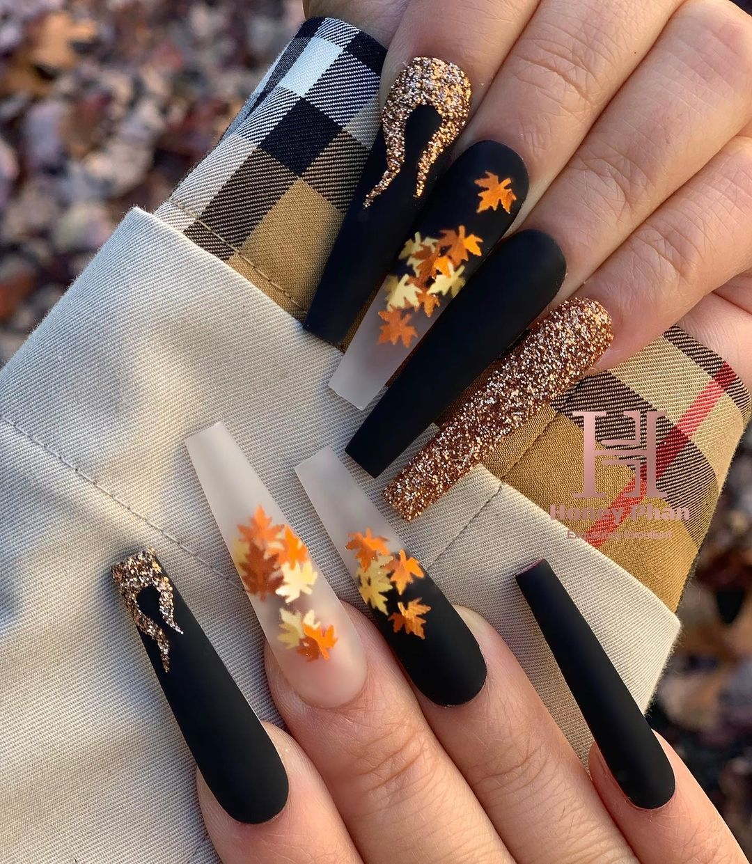 "Honey Phan on Instagram: ""Fire Fall Nails once aga"