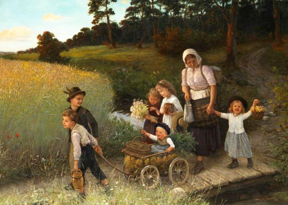 картины русских художников о детях картинки густо